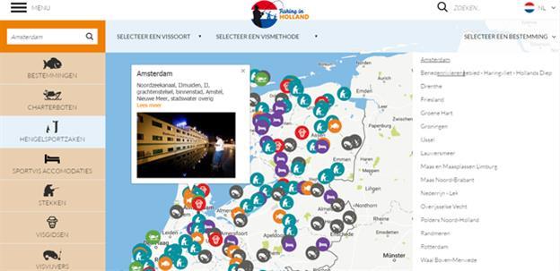 Fishing in Holland kaart