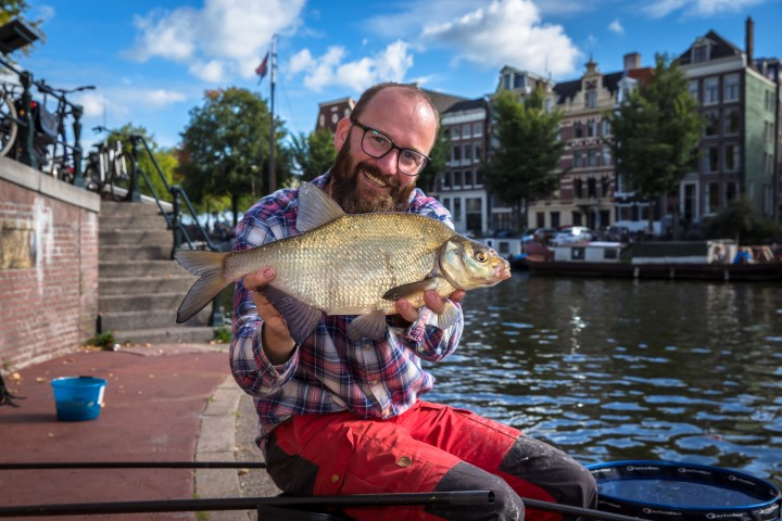 Bream caught in the middle of Amsterdam