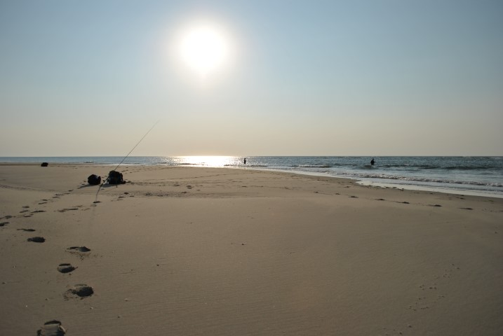 Beach fishing on the Wadden islands