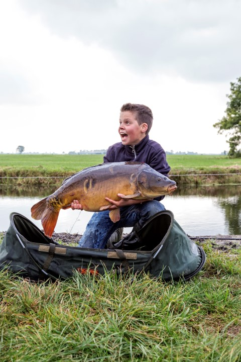 Big mirror carp caught in a Dutch polder