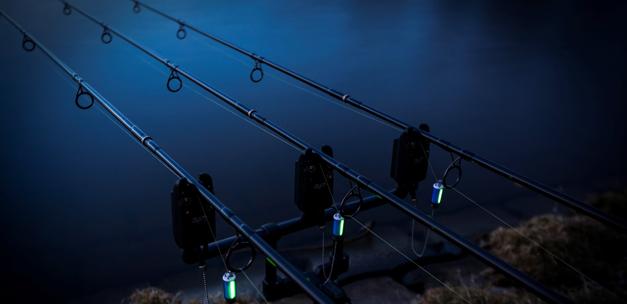 Nachtvissen en vissen met drie hengels