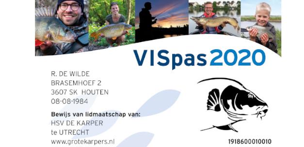 VISpas 2020: nu online te bestellen!